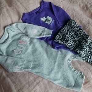 Newborn Cotton Sweater Onesie and Set